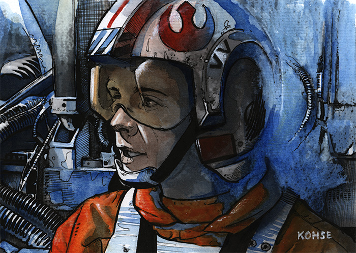 Luke in X-Wing by Lee Kohse